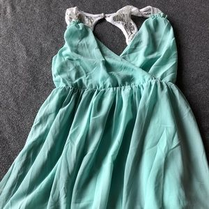 Summer dress with lace-back.